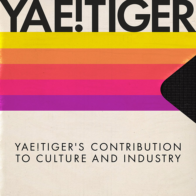 "<p>Cover art for ""Yae!Tiger's Contribution to Culture and Industry"" EP. The artwork is a reference to the glory days of 80's analogue media.</p>"