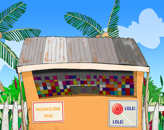 <p>Frame grab from a health promotion cartoon created for the Tongan Ministry of Health.</p>