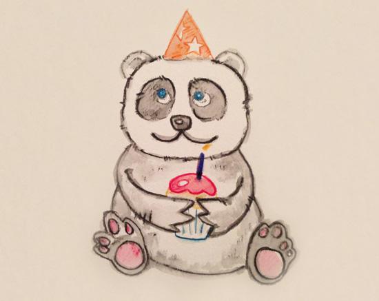 <p>Child's birthday card.</p>